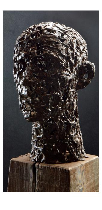 Head Study in Iron, 2015 - David Robinson