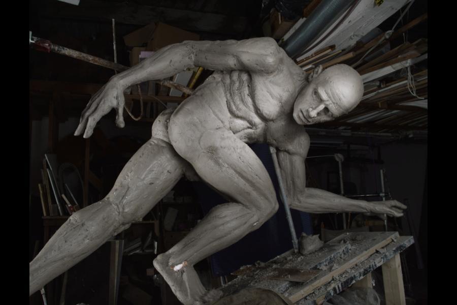 Clay figure in progress