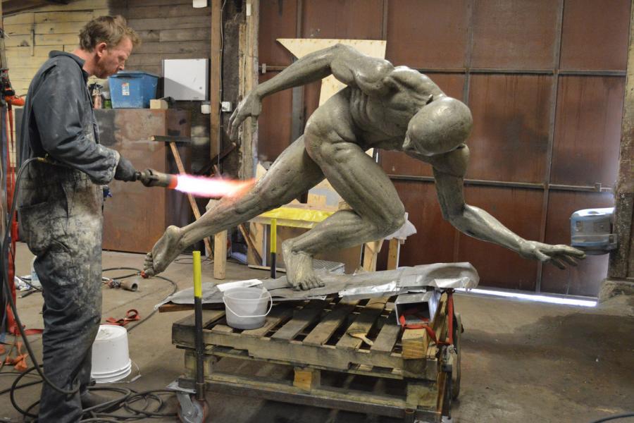 Applying the patina