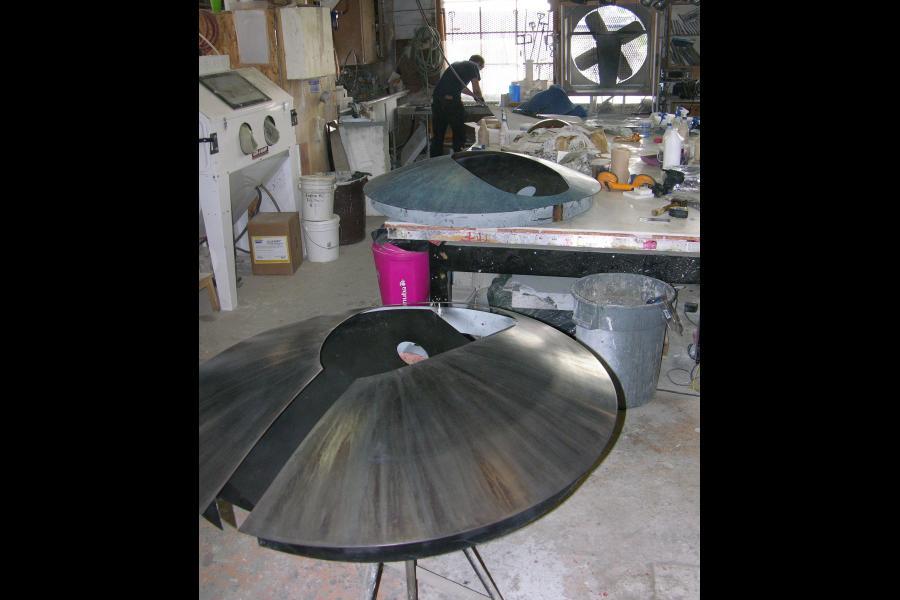 Establishing the base patinas